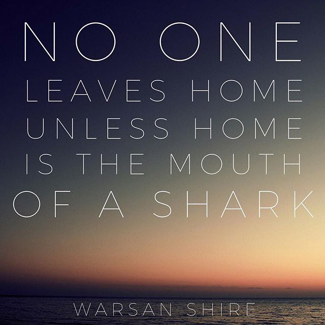 #worldrefugeeday #refugeeswelcome #warsanshire #refugees #home