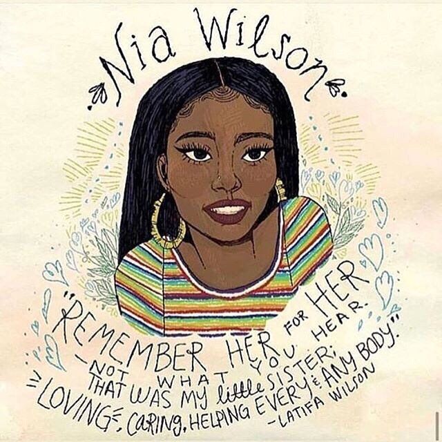 Say her name.  18 year old Nia Wilson was murdered by John Lee Cowell on Sunday night. Sisters Nia and Letifah were both stabbed in the neck, but only Nia's wounds were fatal. Nia was considering studying criminal justice. Rest In Power Nia Art from @kaylanijuanita . . . . . #justicefornia #sayhername  #niawilson #sayhername #whitesupremacy #hatecrime #racism #racialviolence #restinpower #blackinamerica  #BlackLivesMatter  #blackhistoryiseveryday #BlackHistory