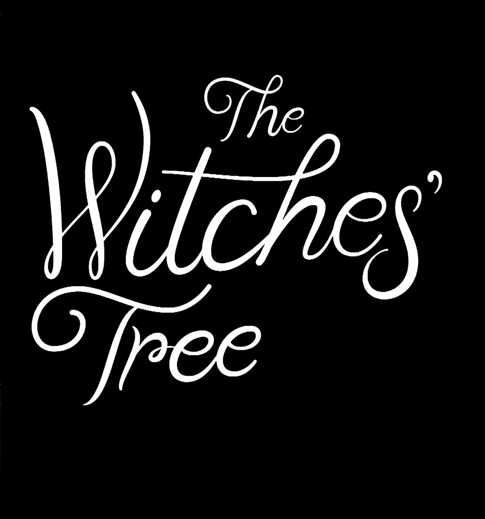 Witches Tree lettering - Lettering I did for the title of one of my bosses titles, based on the prior books in the series. author lettering by Sara Wood. Cover Design by David Rotstein