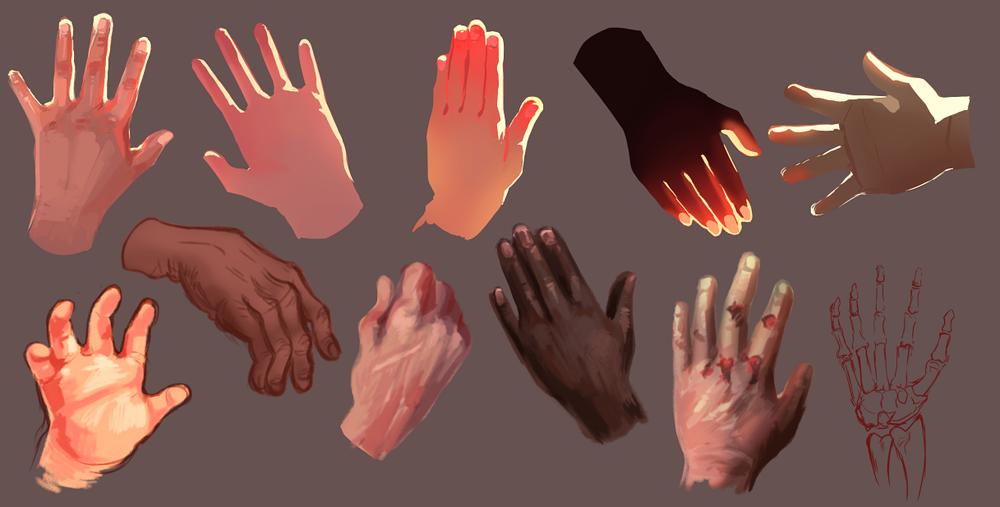 10 minute hand studies.