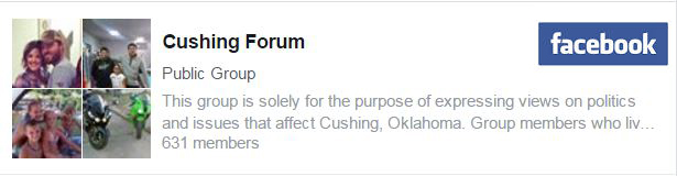 Click on the link to take you to the Cushing Forum Public Face Book Page and the poll.