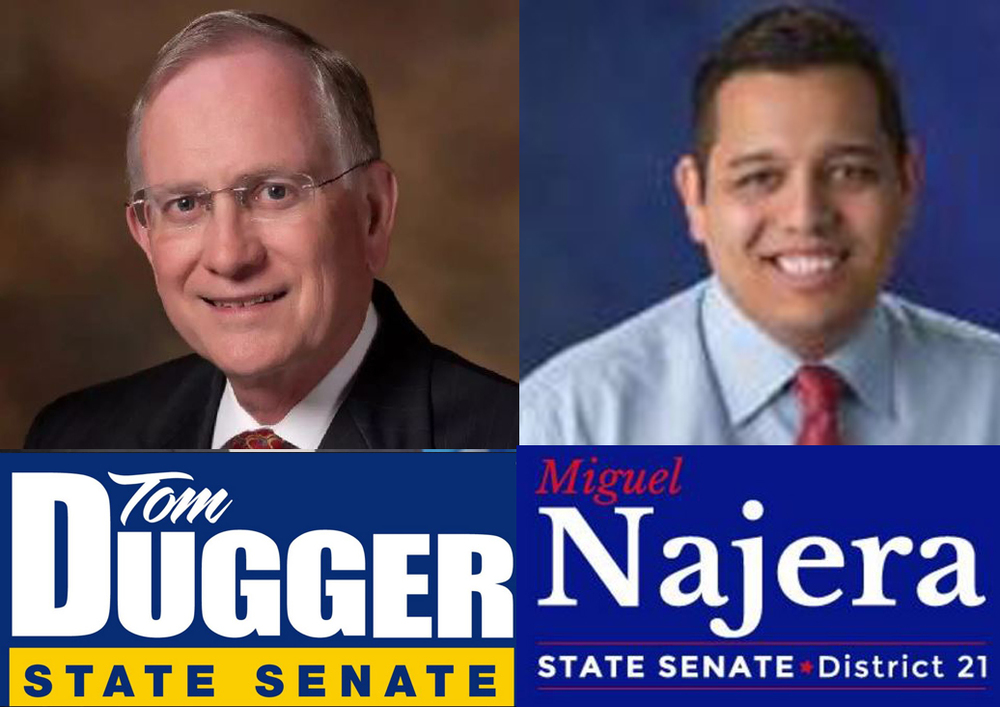 Dugger and Najera are running for the State Senate District 21