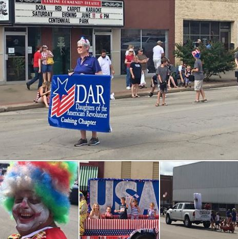 Bottom left Lee Skinner as a parade clown.