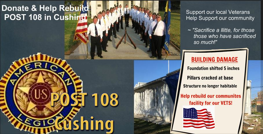 CLICK HERE   TO FIND OUT HOW YOU CAN DONATE TO THE POST 108 BUILDING FUND!