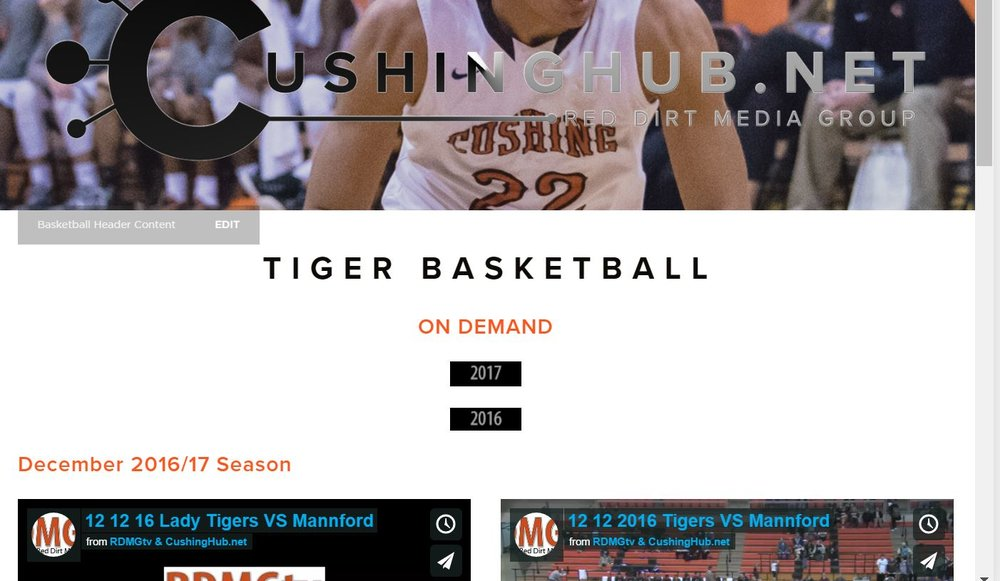 http://cushinghub.net/ - Click the link to see the games.