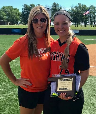 CHS Head Softball Coach Nikki York & Megan Lee ~