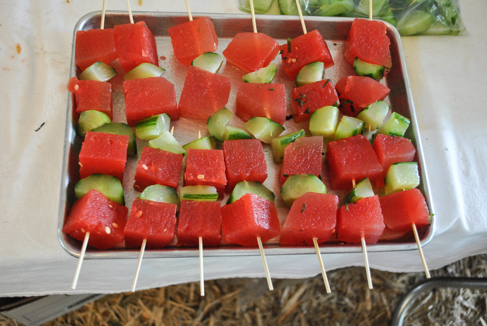 Watermelon, Cucumber, and Mint Salad