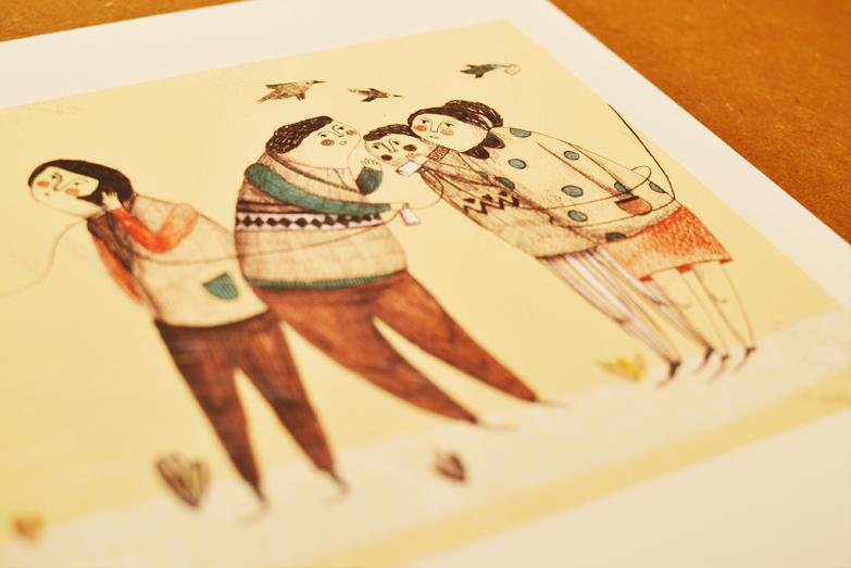 Pormenor da ilustração de Cátia Vidinhas. /Detail from Cátia Vidinhas's illustration.