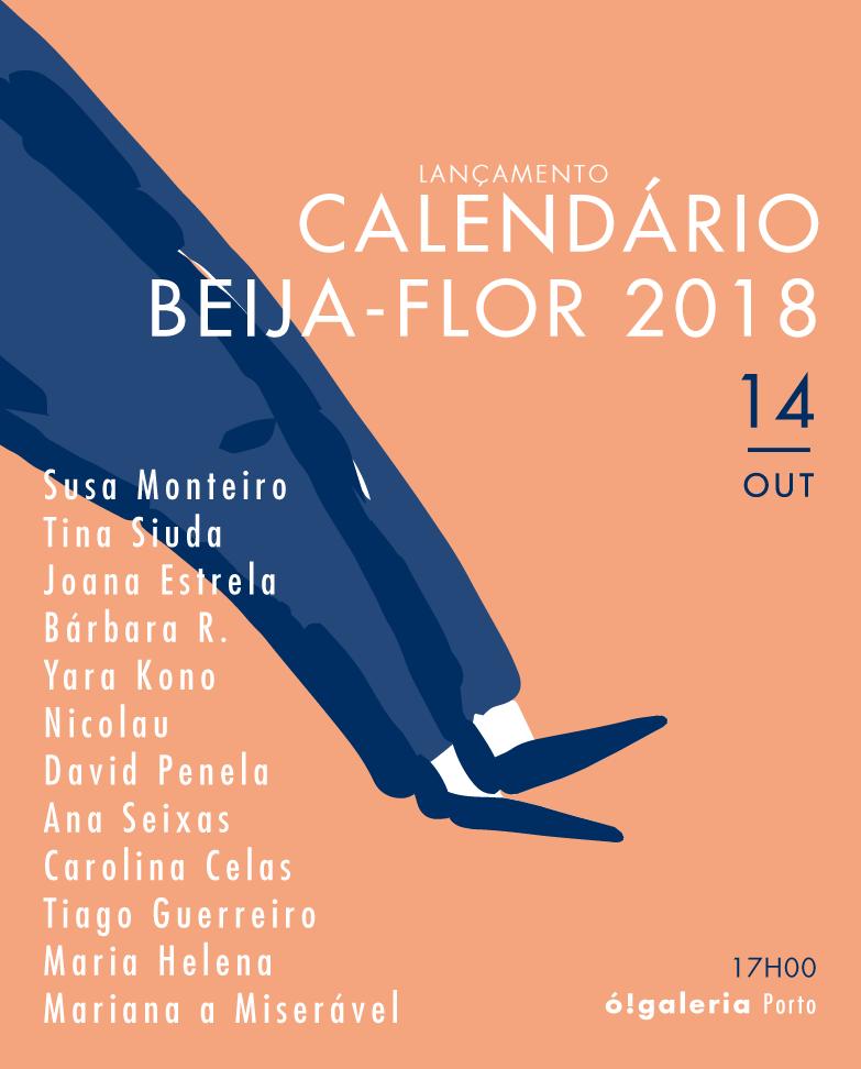 cartaz lançamento calendário beija-flor 2018