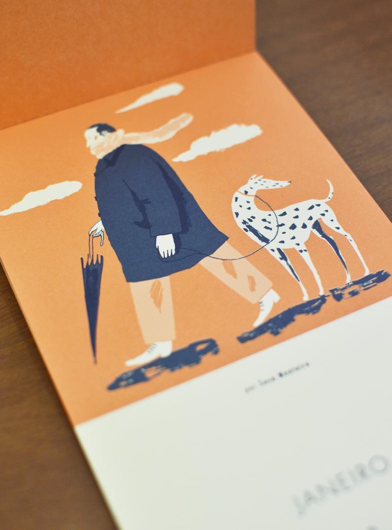 Janeiro, ilustrado por Susa Monteiro /  January, illustrated by Susa Monteiro.