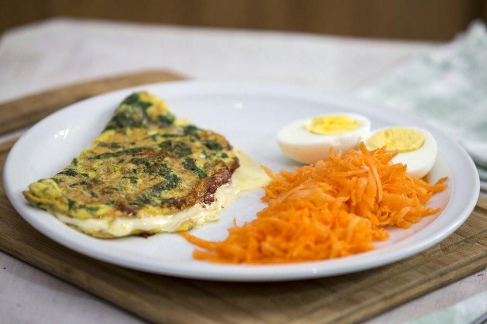 Omelette de espinaca
