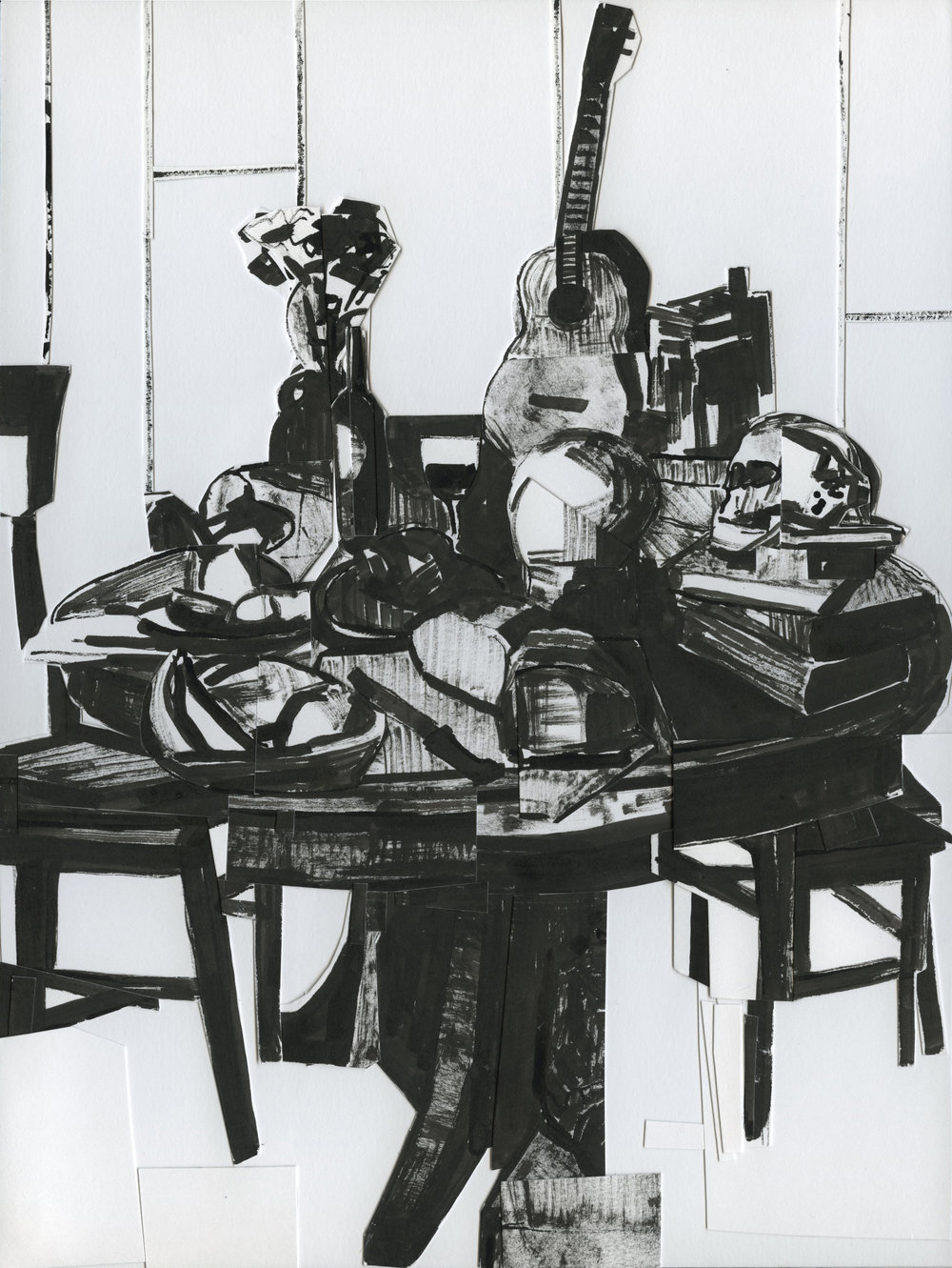 Still Life with Skull and Ukulele