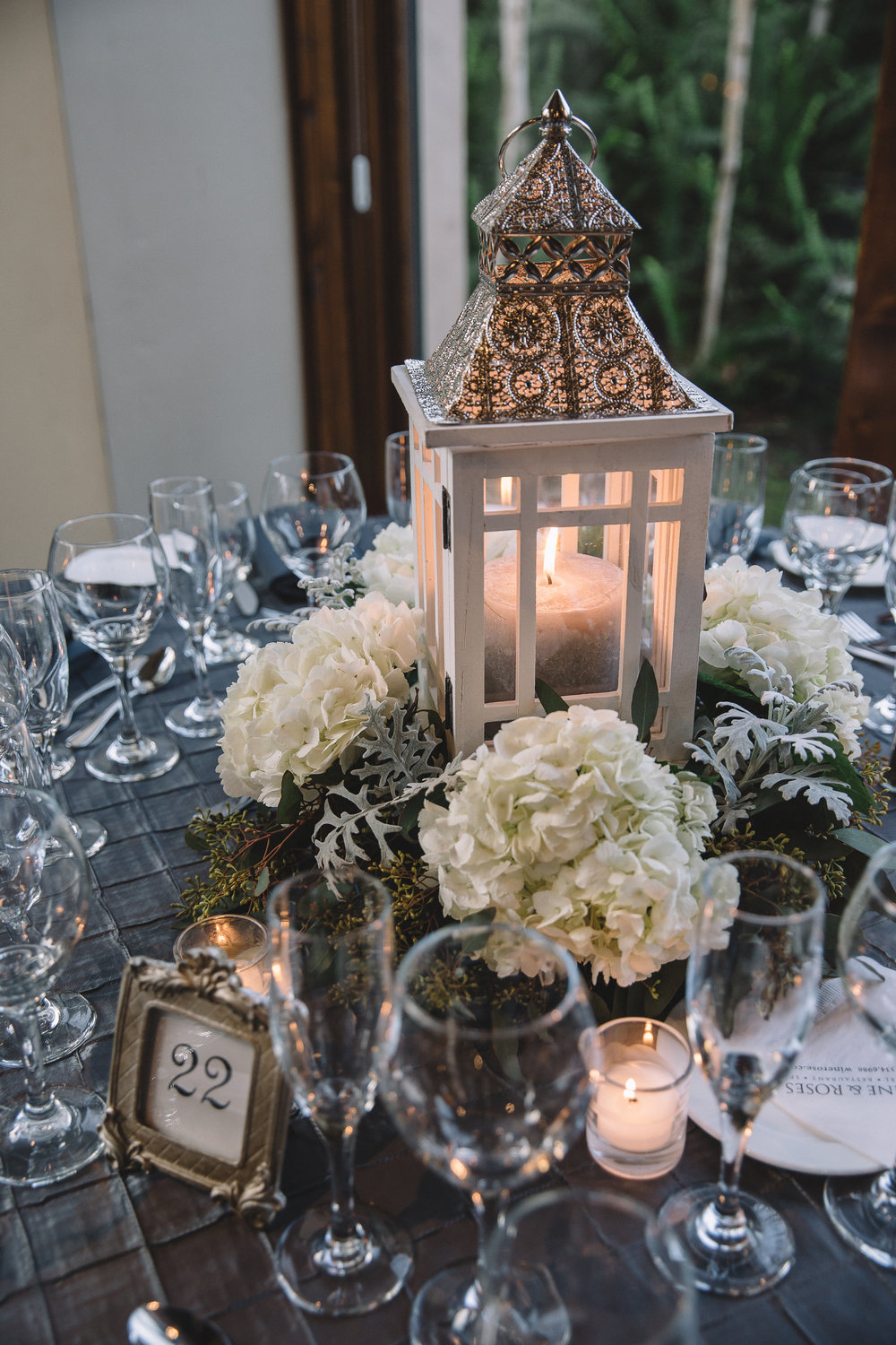 Table Settings & Decor: -