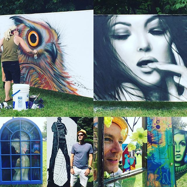 The diverse and beautiful art showcased at the Sunflower Art Festival #sunflowerfestival #luckandsenses #sunflowerartfestival16 #abgutrist