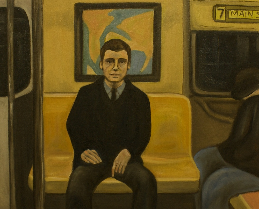 "Train Ride   29""x 34"" Oil on Canvas 2014"
