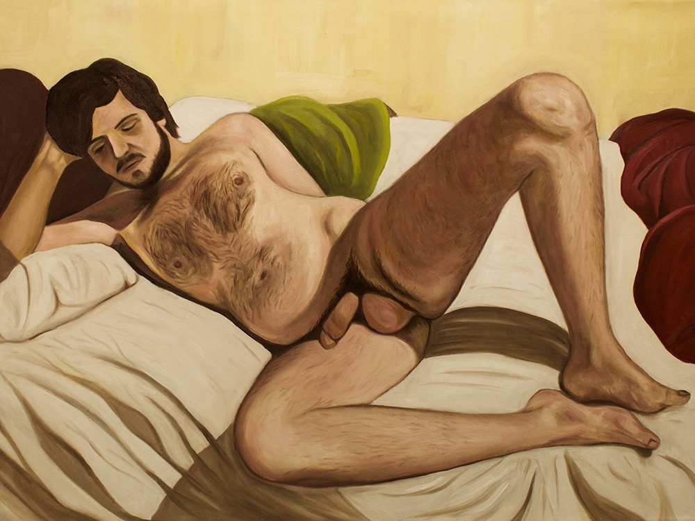 "Bed   30""x 40"" Oil on Canvas 2015"