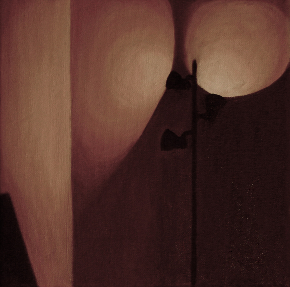 "Room   9""x 9"" Oil on Canvas 2012"