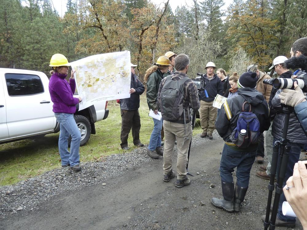 BLM field trip with the community into Nedsbar Timber Sale units, Photo: Suzie Savoie