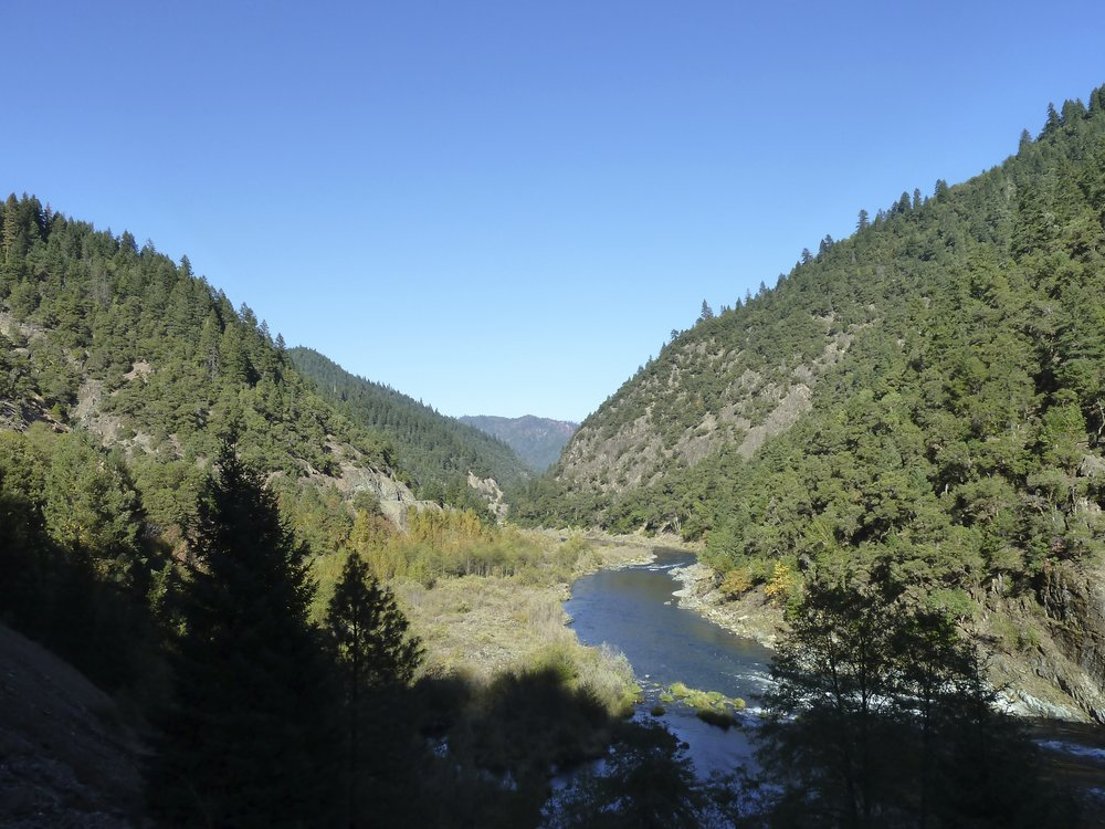 The Wild and Scenic Rogue River near Galice, Oregon at the northwestern portion of the planning area.