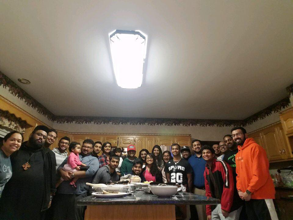 """Game Night"" fellowship at Abi Achen and Sibyl Kochamma's house on Feb 22nd, 2017"