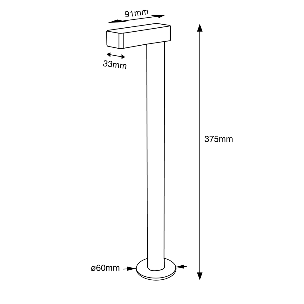 Beaker Table Lamp Drawing