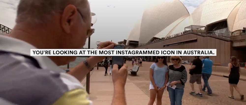 Sydney Opera House – The most instagrammed icon and location in Australia.