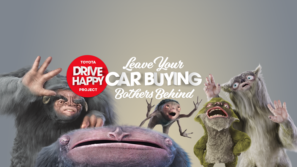 The Car Buying Bothers, left to right : Pressure to buy, Buyers remorse, Stress, Haggle, and Time Poor.