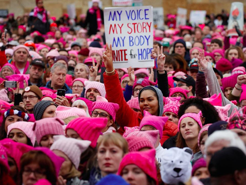 On January 21, 2018, thousands of women, femmes and allies will come together in Las Vegas, Nevada, to celebrate the one-year anniversary of the Women's March and to launch our collective 2018 Women's March agenda:  #PowerToThe  Polls.  We in Gainesville, FL are organizing a meet up on January 21st at 2p for the Women's March anniversary weekend.  From the Women's March to the Women's Convention, we've seen how powerful we are when we gather together, share space and lift each other up. While the official Women's March anniversary event will take place in Nevada, Women's March Chapters are organizing exciting state-specific anniversary events throughout the anniversary weekend, from marches to legislative actions to community events to voter registration drives.  We will conclude the celebration by marching down University to 13th and back.