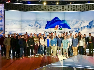 Group photo of the team I worked with during the Olympics