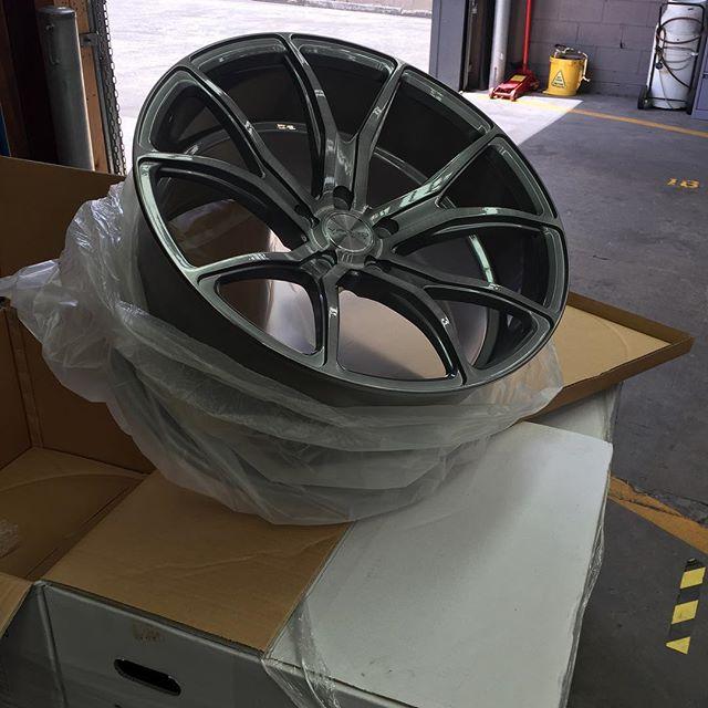 New Varro wheels... in store now !!! #varro #varrowheels in the brushed titanium colour