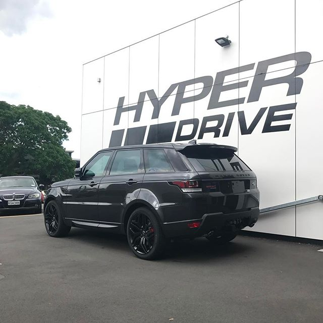 Must be a blacked out Friday 🤔 #hyperdrivenz #rangerover #sport