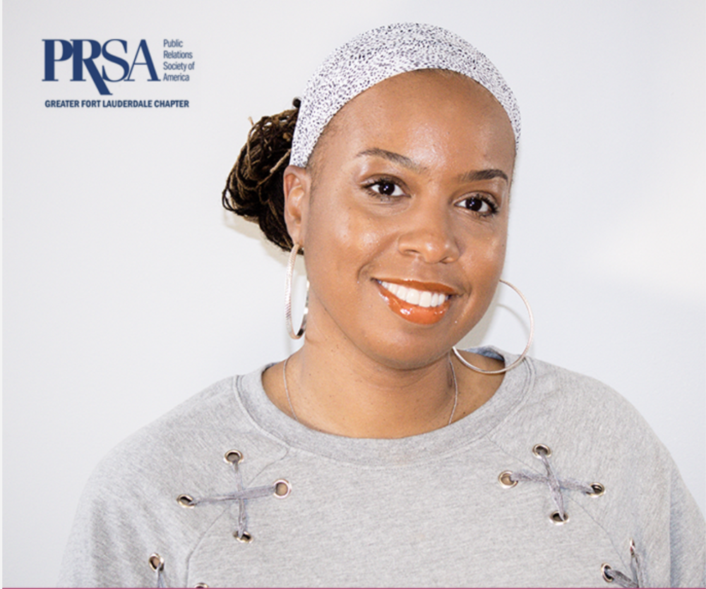 Teana McDonald 2018/2019 Secretary for PRSA Greater Fort Lauderdale