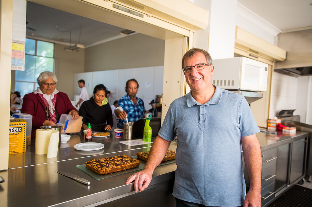 Pastor Mick Agius at the Liverpool Community Kitchen and Hub. Photo: Anna Kucera.