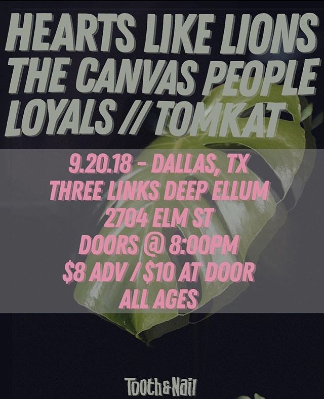 This show is SO SOON and we can't wait! Come see us at @threelinksdeepellum with @heartslikelions @thecanvaspeople and @loyalsband ! It's gonna be DOPE