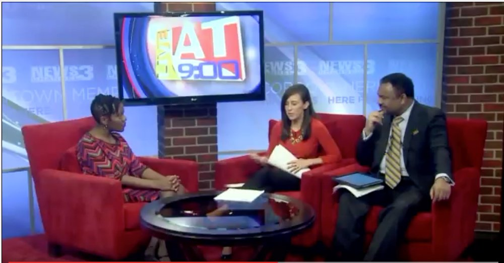 Crystal Sanders live on wreg (memphis) March 16, 2017