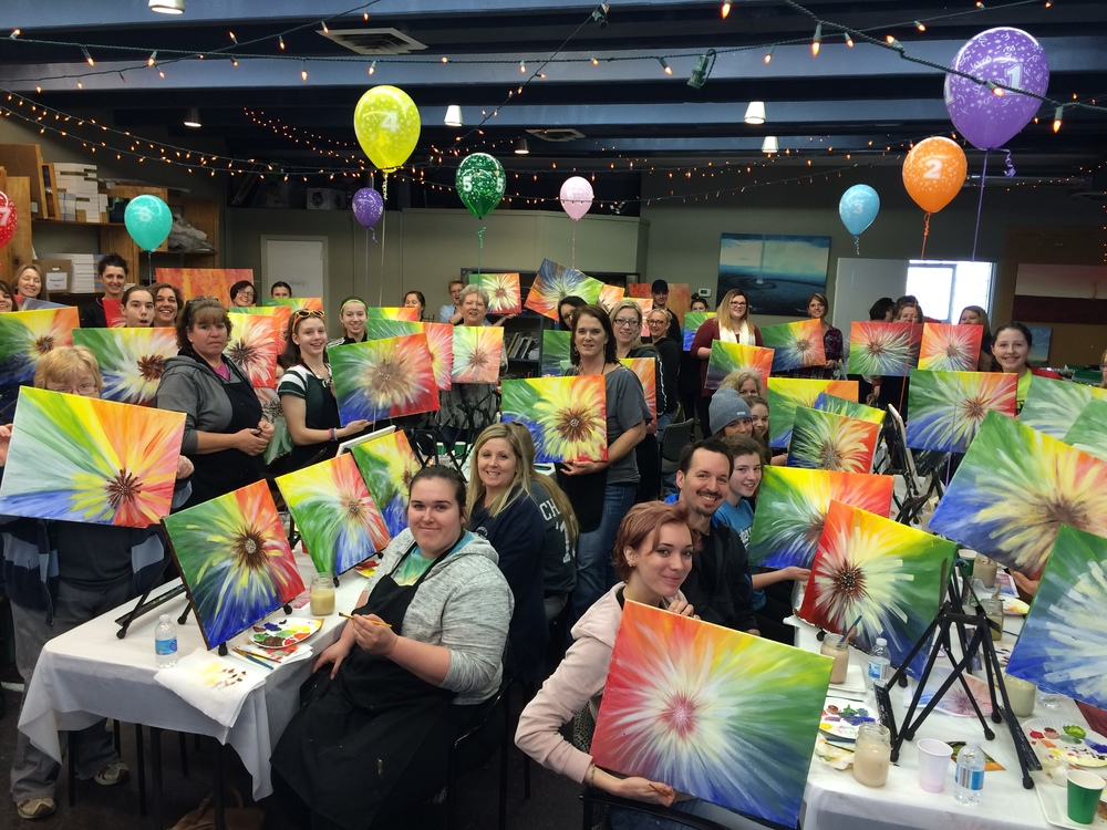 Paint your art out at a Canvas & Coffee event