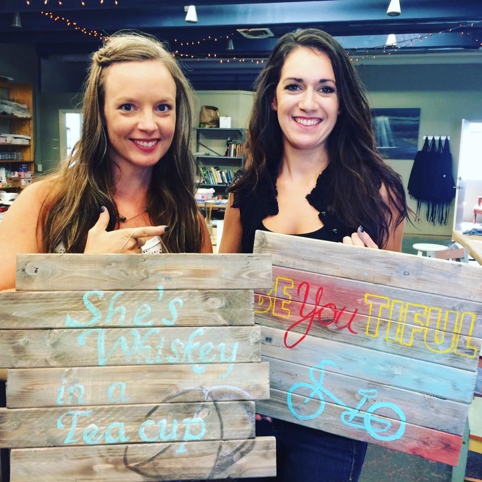 DIY Pallets look spectacular.  Nice job gals!