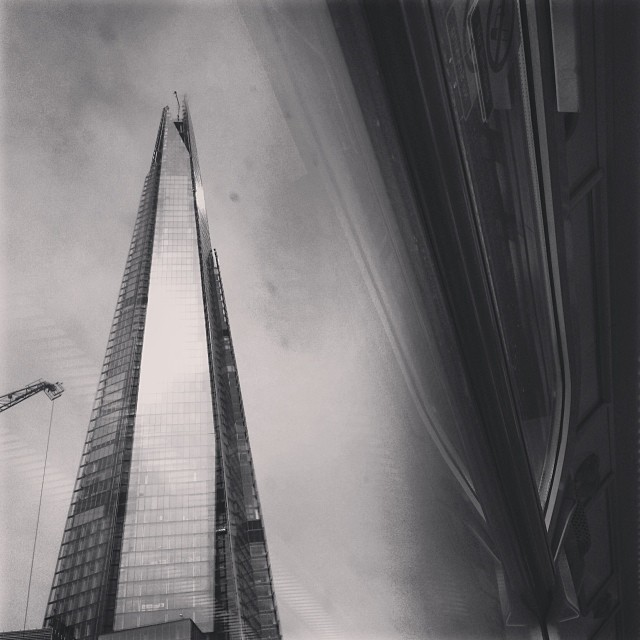 The Shard as passing on the train.