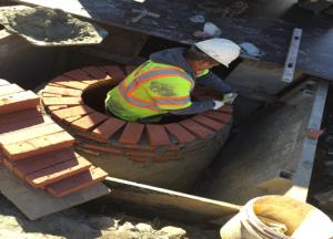 Construction of stormdrain manhole 2 @ Minnesota Avenue & Ridge Road