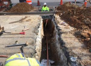 New water service installation at 3935 Minnesota Avenue, Northeast.