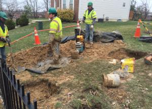 New Water Service Installation @ #4 Ridge Rd., SE