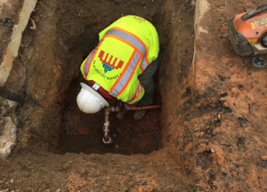 New Water Service Installation for #3640 Minn. Ave, SE (Tap @ watermain shown)