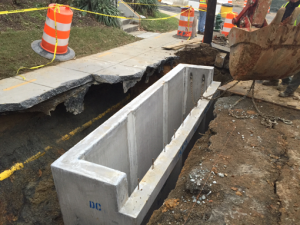Stormwater Inlet I-6 Installation on Ridge Rd.