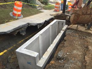 Stormwater Inlet I-6 Installation on Ridge Rd.