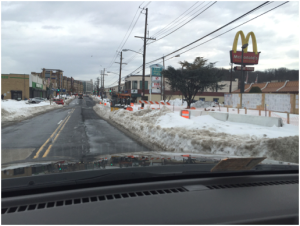 Worksite conditions @ Minnesota Avenue & Dix Street/Clay Street after Blizzard Jonas – Tuesday, January 26, 2016