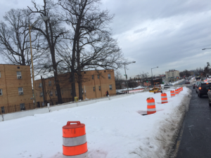 Worksite conditions @ Minnesota Avenue & A Street/Ridge Road. after Blizzard Jonas – Tuesday, January 26, 2016