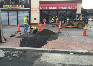 Installation of new water service line @ the Apex Care Pharmacy @ Minnesota Avenue & Clay Place
