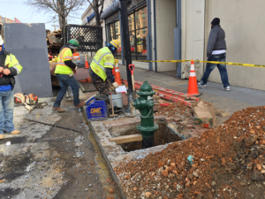 Installation of new fire hydrant on Minnesota Avenue between Dix Street & Benning Road