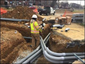 Streetlight and traffic signal conduit installation @ Minnesota Avenue & Ames Street