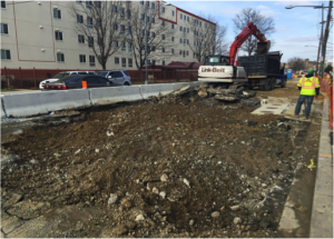 Continued roadway demolition on Minnesota Avenue between Ames Street & Blaine Street